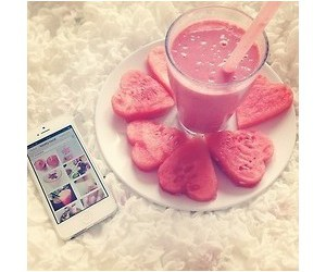 lovely, pink, and food image