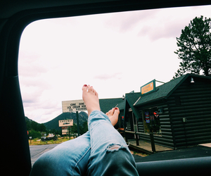 car, feet, and grunge image