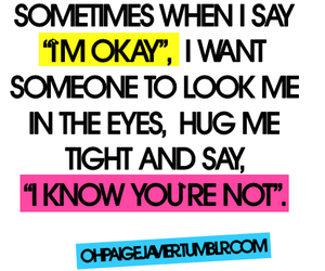 hug, quote, and okay image