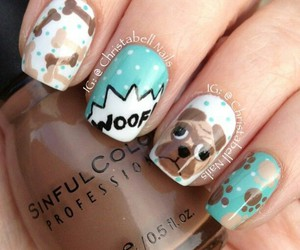 dog, nails, and cute image