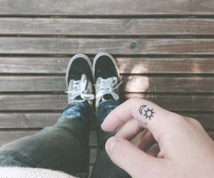 tattoo, moon, and vans image