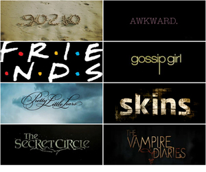 gossip girl, the vampire diaries, and skins image