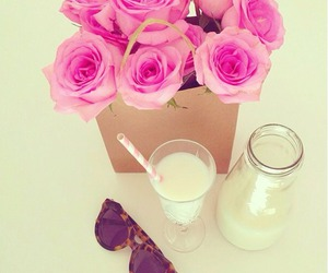 milk, pink, and rose image