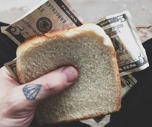 money, tattoo, and diamond image