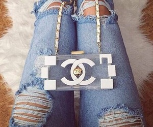 fashion, chanel, and jeans image