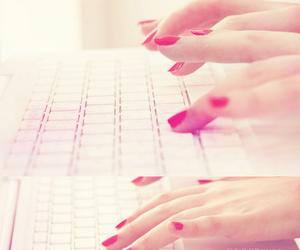 fashion, nail polish, and pink image
