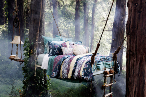 Bed, Bedroom, Forest, Nature, Photography   Inspiring Picture On Favim.com