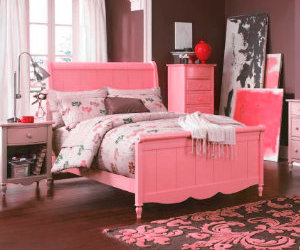 pink and bedroom dream image