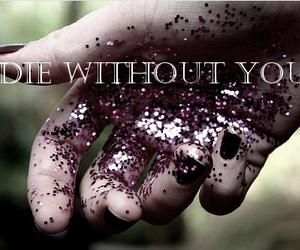 hand, purple, and text image