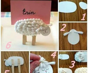 Place cards, diy place cards, and sheep place cards image