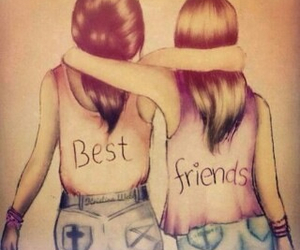 best friends, girls, and hug image