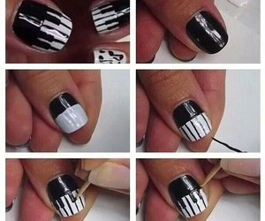 black and white, music, and nails image