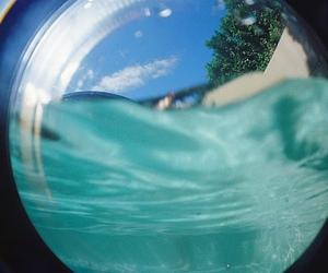 film, pool, and fish eye image