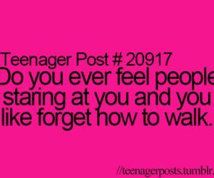 teenager post, funny, and walk image