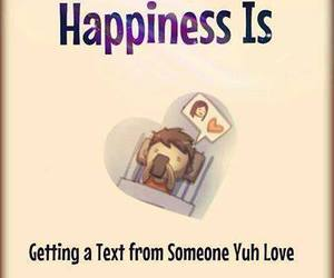 happiness, love, and text image