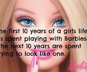 barbie, true, and quotes image