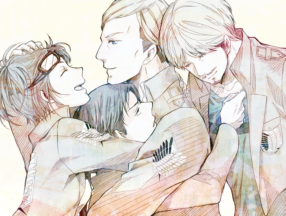 levi and hanji discovered by Black Rose on We Heart It
