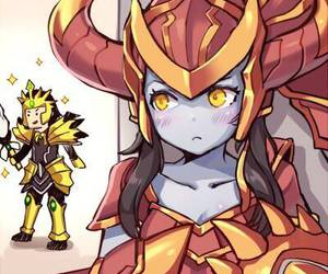 league of legends, shyvana, and jarvan iv image