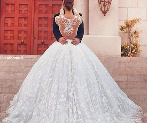 bride, cute, and dress image