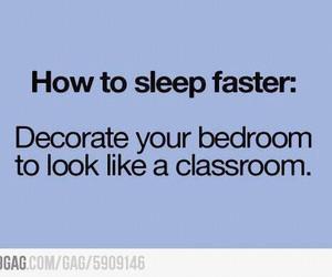 sleep, funny, and school image