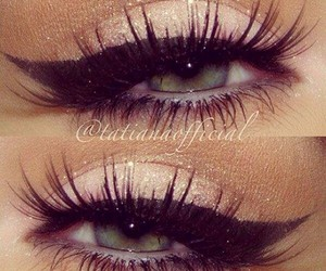 beauty, eyeliner, and eye makeup image