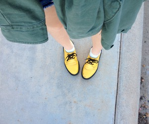 yellow, shoes, and grunge image