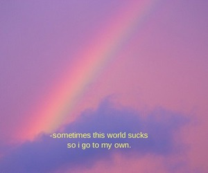 rainbow, world, and quotes image
