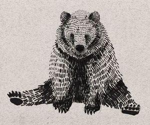 bear, art, and draw image