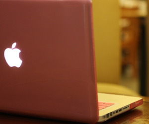 apple, pc, and pink image