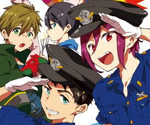 free!, rin, and makoto image