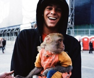 ryan sheckler, monkey, and boy image