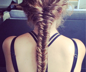 braid, brown, and fashion image