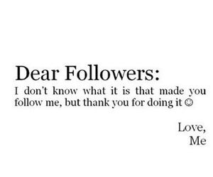 followers, thank you, and thanks image
