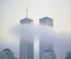 city, new york, and twin towers image