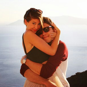couple, Greece, and Relationship image