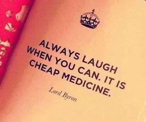 laugh, medicine, and quote image
