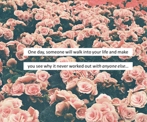 flowers, quote, and pink image
