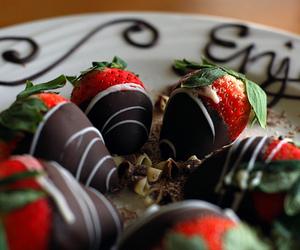 chocolate, strawberries, and dessert image