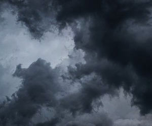 sky, clouds, and dark image