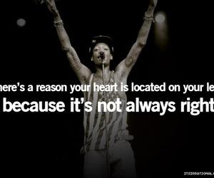 quote, heart, and wiz khalifa image