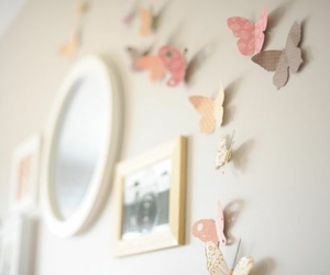 butterfly, pastel, and room image