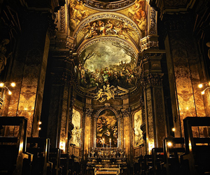 architecture, church, and gold image
