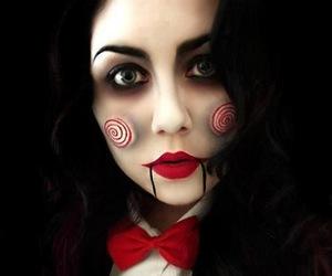 makeup, Halloween, and saw image