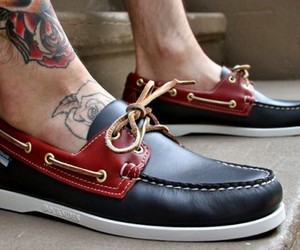 shoes, boy, and tattoo image
