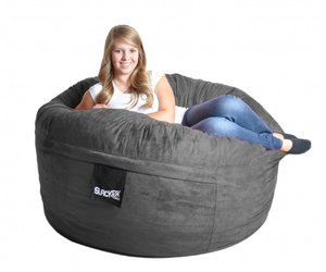 chair, bean bag, and lifetime warranty image