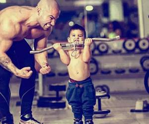 fitness, dad, and gym image