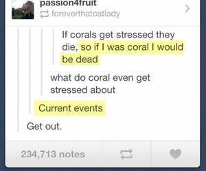 funny, puns, and coral image