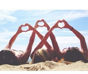 friends, summer, and heart image
