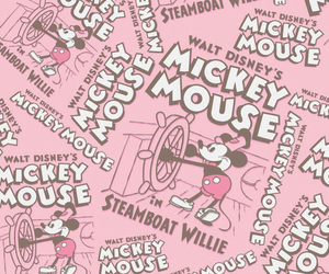 mickey mouse, pink, and wallpaper image