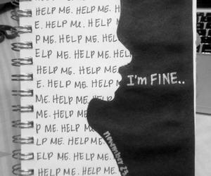 help, fine, and sad image